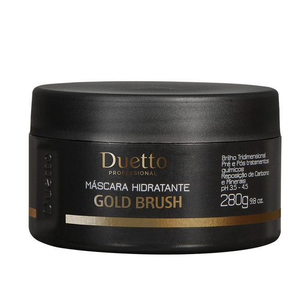 Máscara Hidratante Gold Brush Duetto 280g