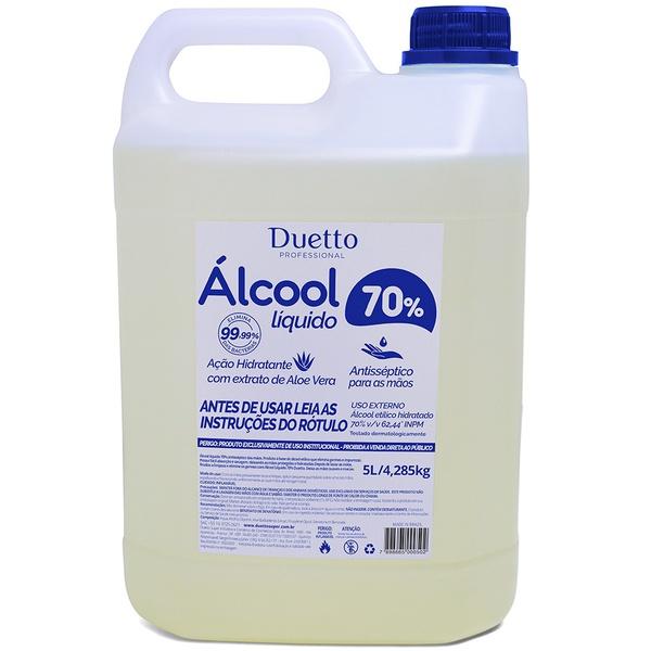 Álcool Liquido Glicerinado Duetto 5 Litros Promoção