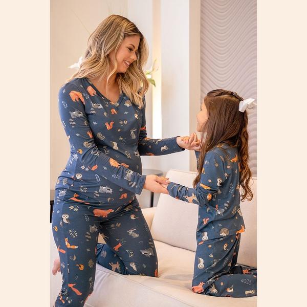 Pijama de inverno em malha.