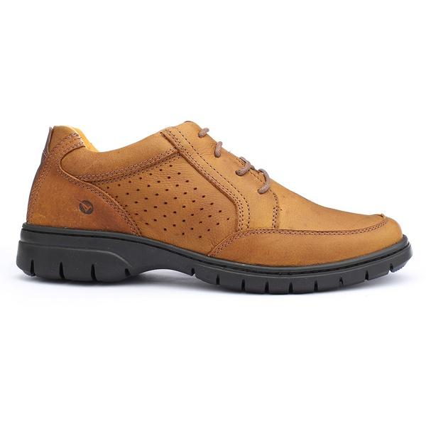 Sapato Masculino Full Relax Francajel Conhaque em Couro