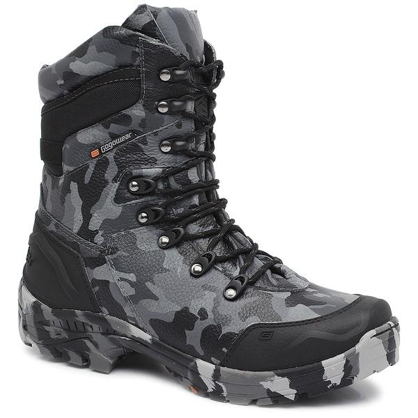 Bota Tática Militar Masculina Gogowear 100% Couro ref Bope cor Camuflado Chumbo