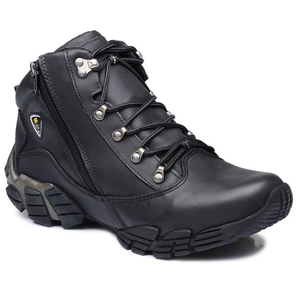 Bota Adventure Gogowear 100% Couro ref Oregon cor Preto