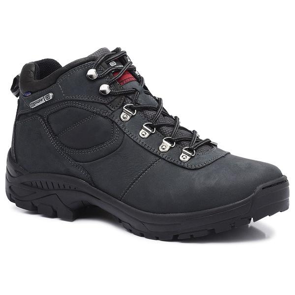 Bota Coturno Adventure Gogowear 100% Couro ref Pack cor Preta