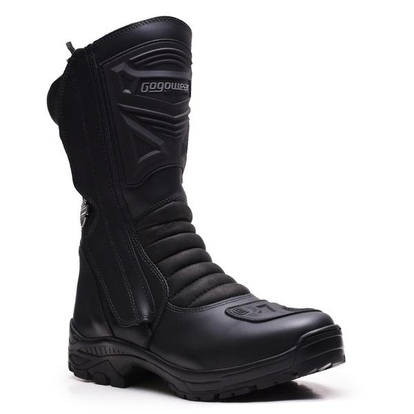 Bota Tática Militar Cano Alto Gogowear 100% Couro ref Race 900 cor Preta