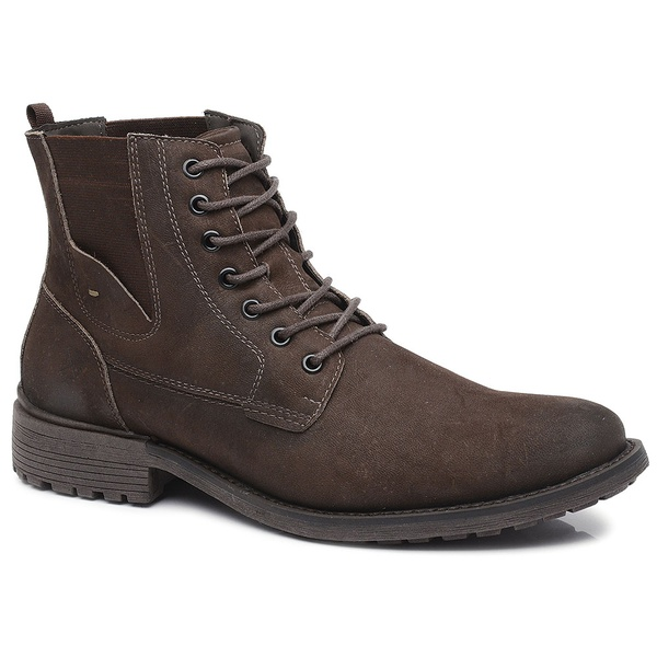 Bota Casual Masculina Gogowear 100% Couro ref Roos 21 cor Reful Brown