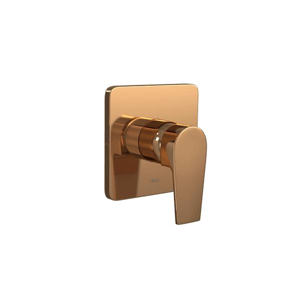 Acabamento monocomando de chuveiro alta e baixa pressão Deca Level Red Gold