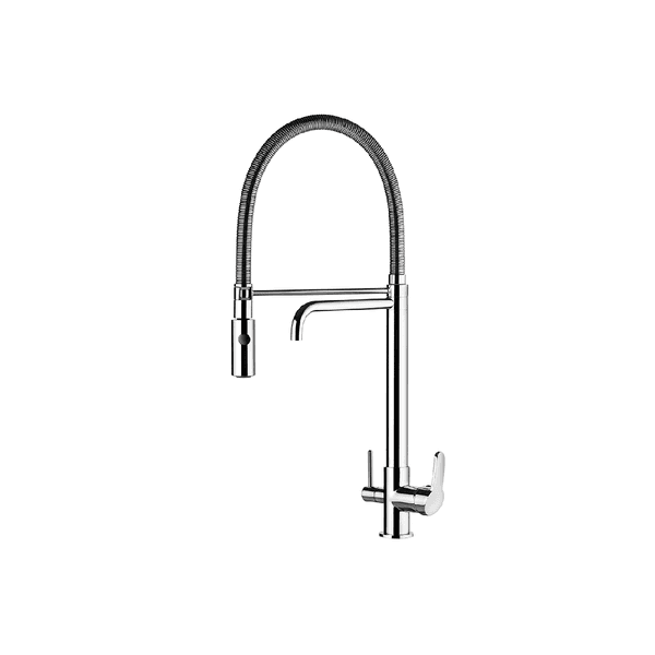 Misturador Monocomando Lorenkitchen 2264 C76 Ducha E Saída Para Água Filtrada Lorenzetti