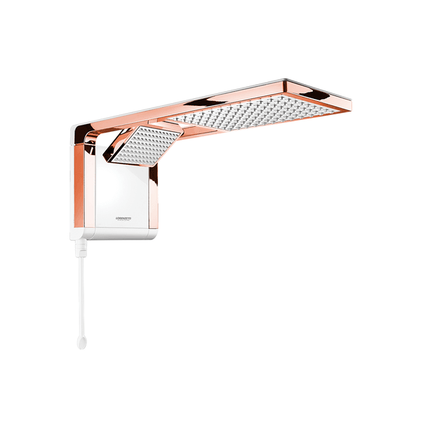 Chuveiro Acqua Duo Ultra Branco/Rose Gold Lorenzetti