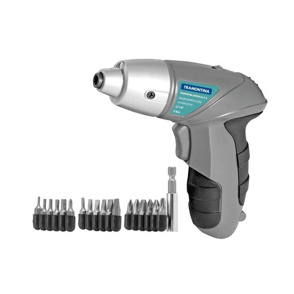 Parafusadeira a Bateria Tramontina Ni-Cd 3,6V - 21 Peças 42380519