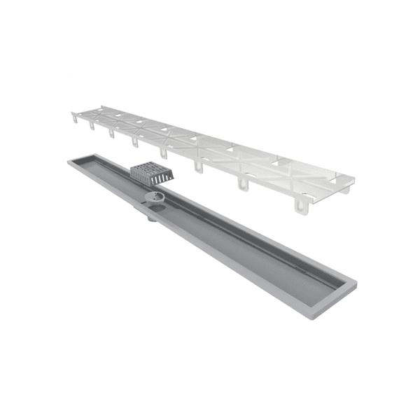 Ralo Linear Royal Tampa Oculta com base em ABS 80cm
