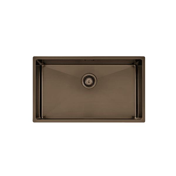 Cuba Tramontina Design Collection Quadrum em Aço Inox com Revestimento PVD Black 70x40cm