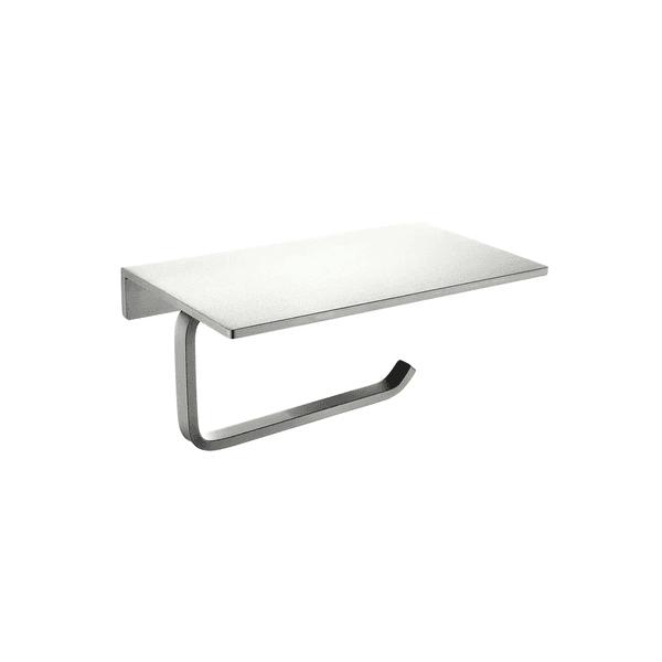 Papeleira Astra Aluminio C/ Apoio Silver Matte