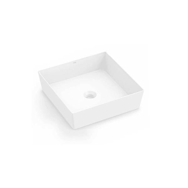 Cuba de Apoio Platinum Branca Quadrada P5 38x38cm - Incepa