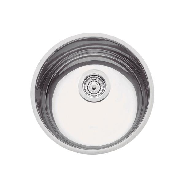 Cuba de embutir Tramontina Luna 35 BL em Aço Inox Alto Brilho 35 cm