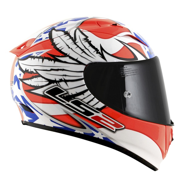 CAPACETE LS2 ARROW FREEDOM WHITE/ORANGE