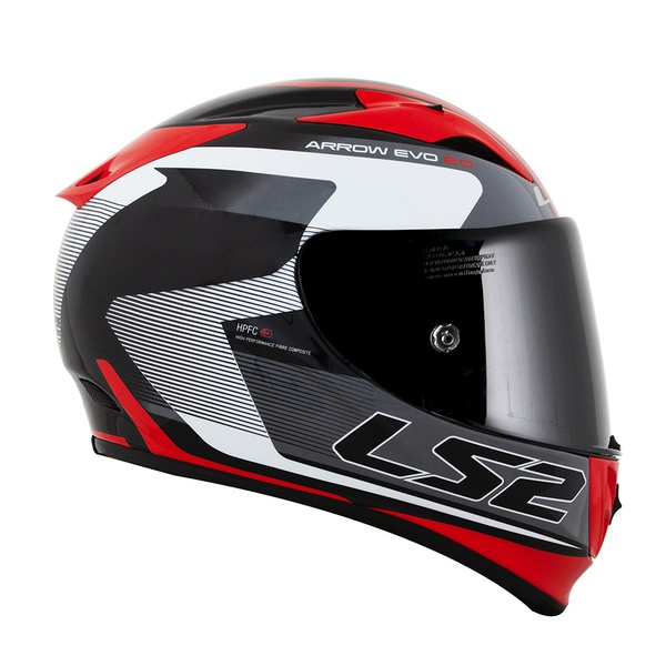 CAPACETE LS2 ARROW COMPETE TIT/WHITE/RED/BLACK