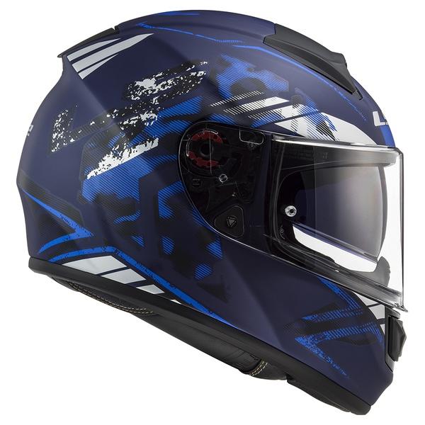 CAPACETE LS2 VECTOR STENCIL MATTE BLACK/BLUE