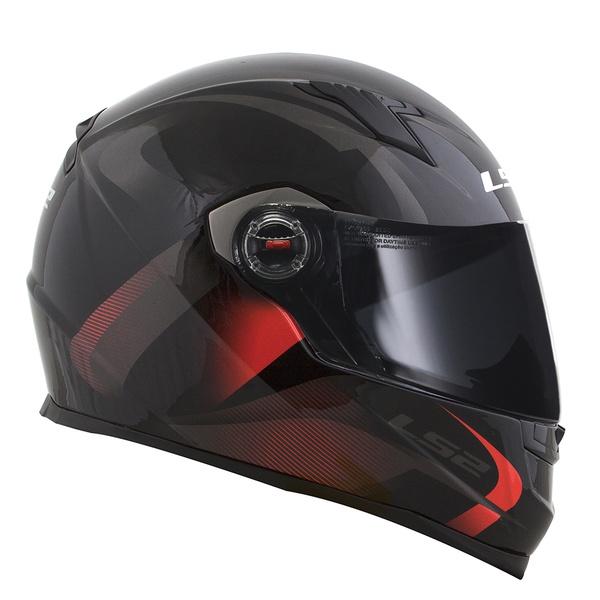 CAPACETE LS2 CLASSIC VELVET BLACK/RED