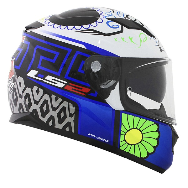 CAPACETE LS2 STREAM COUTURE WHITE/BLUE