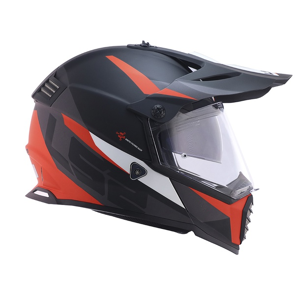 CAPACETE LS2 PIONNER EVO ROUTER MATTE BLK/GREY/RED