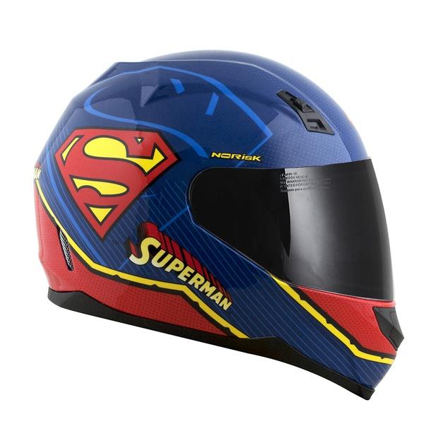 CAPACETE NORISK STUNT FF391 SUPERMAN SYMBOL