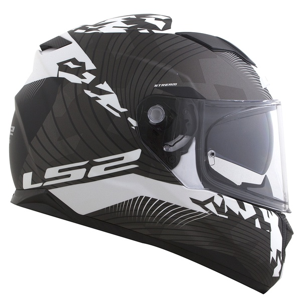 CAPACETE LS2 STREAM HYPE MATT BLACK/WHITE