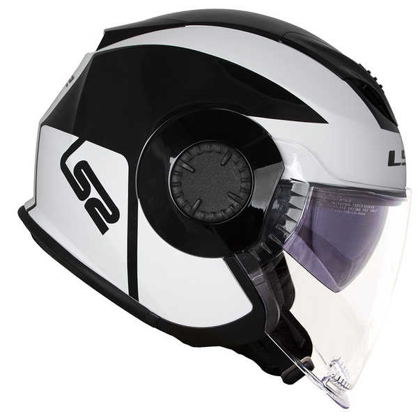 CAPACETE LS2 VERSO MOBILE BLACK/WHITE