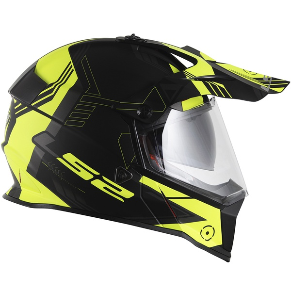 CAPACETE LS2 PIONNER EVO TRIGGER BLACK/WHITE/YELLOW