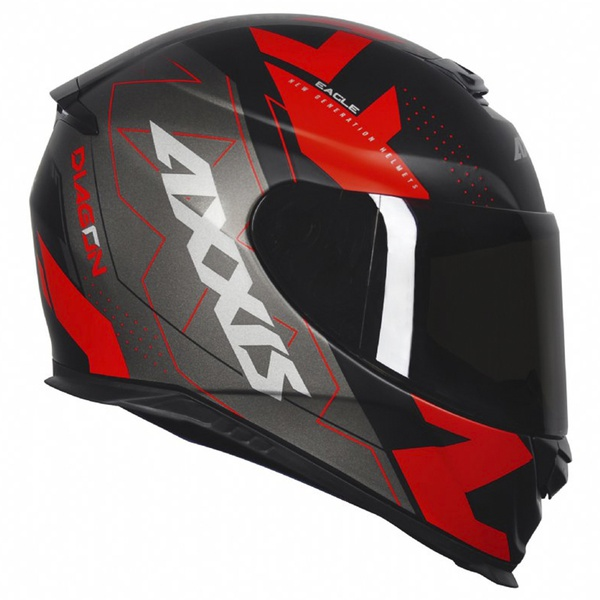 CAPACETE AXXIS EAGLE DIAGON MATT BLACK RED