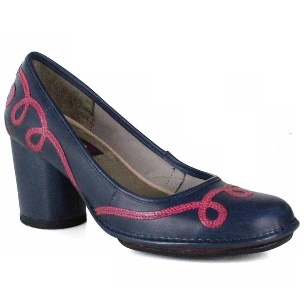 Sapato Em Couro Lolla Alto Navy J.Gean Outlet