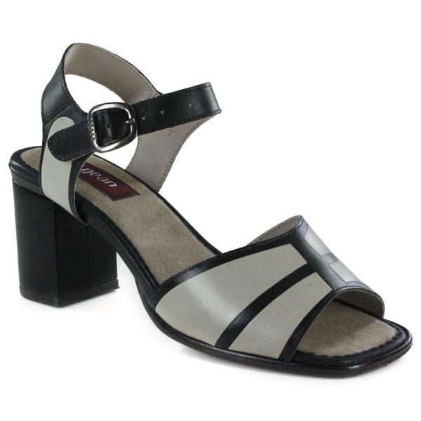 Sandália Em Couro Alta Preta J.Gean Outlet