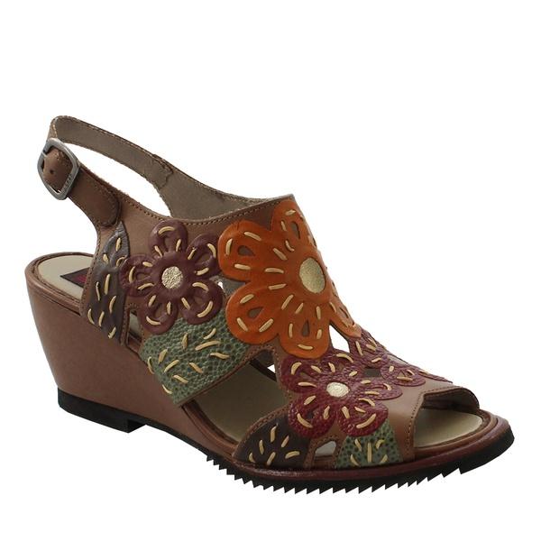 Sandália Em Couro Susan Anabela Alta Taupe J.Gean