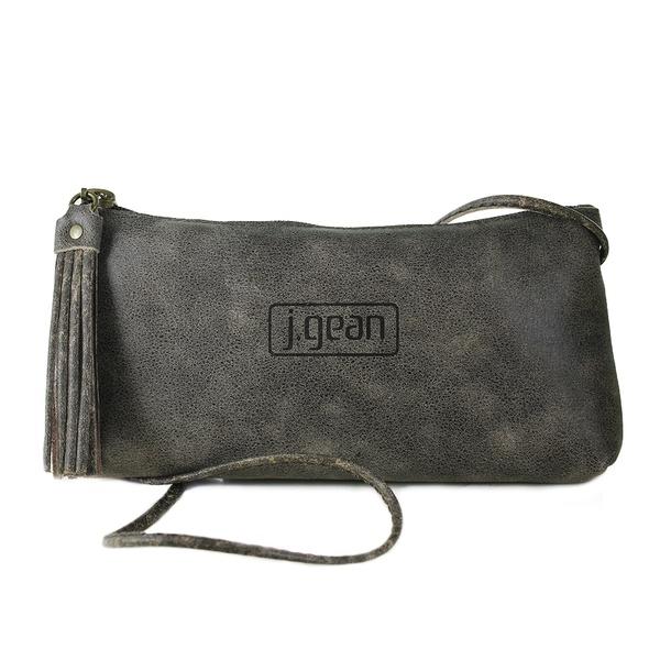 Bolsa de Mão Em Couro Café J.Gean