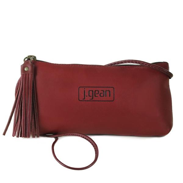 Bolsa de Mão Em Couro Rouge J.Gean