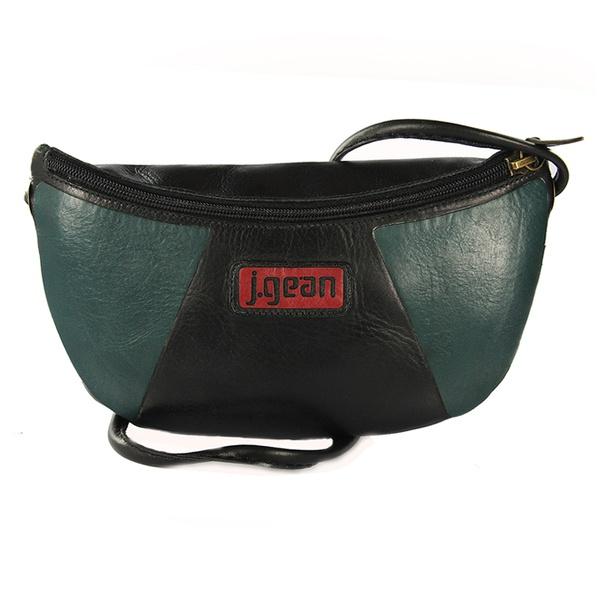 Bolsa de Mão Em Couro Preta J.Gean