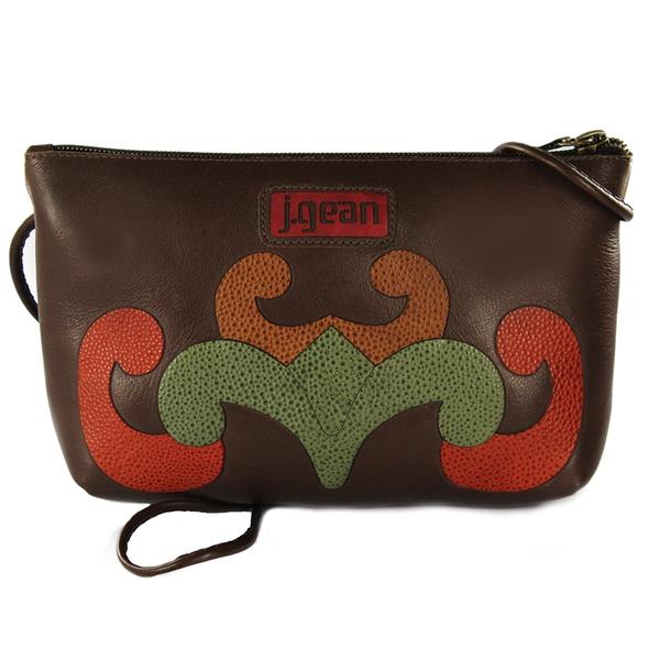 Bolsa de Mão Em Couro Coffee J.Gean