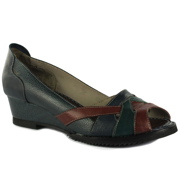 Sandália em Couro Susan Navy J.Gean Outlet
