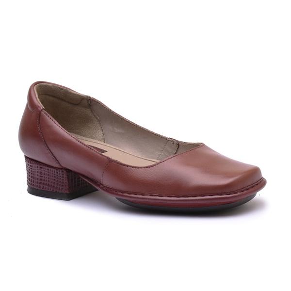 Sapato New Mariah Vermelho Em Couro J.Gean