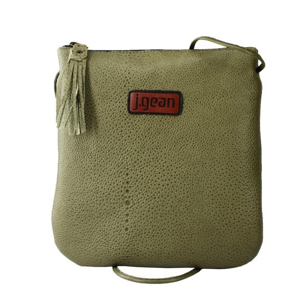 Bolsa de Mão Em Couro Verde J.Gean