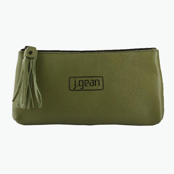 Bolsa de Mão Em Couro Oliva J.Gean
