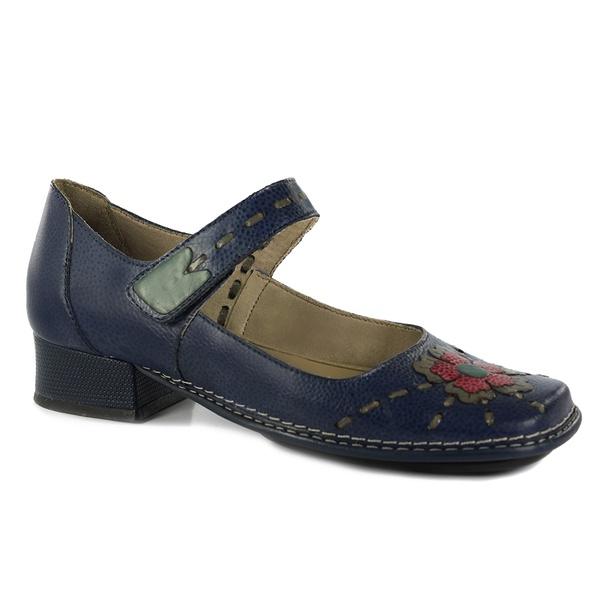 Sapato New Mariah Em Couro Marine J.Gean