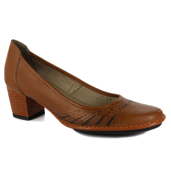 Sapato Ibizza Médio Em Couro Tâmara J.Gean