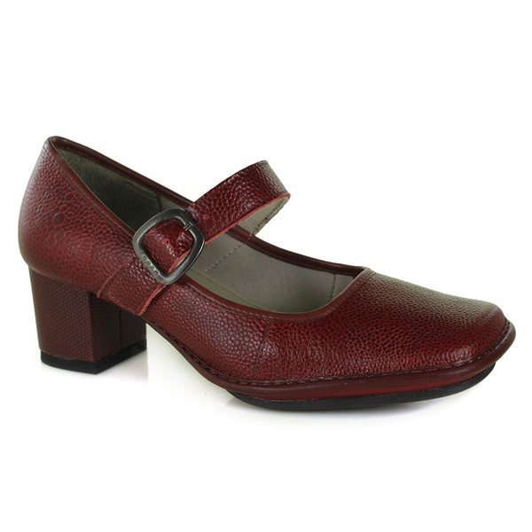 Sapato Galeany Médio Rouge Em Couro J.Gean OUTLET