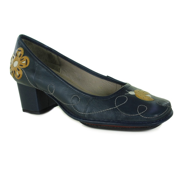 Sapato Galeany Médio Navy Em Couro J.Gean Outlet