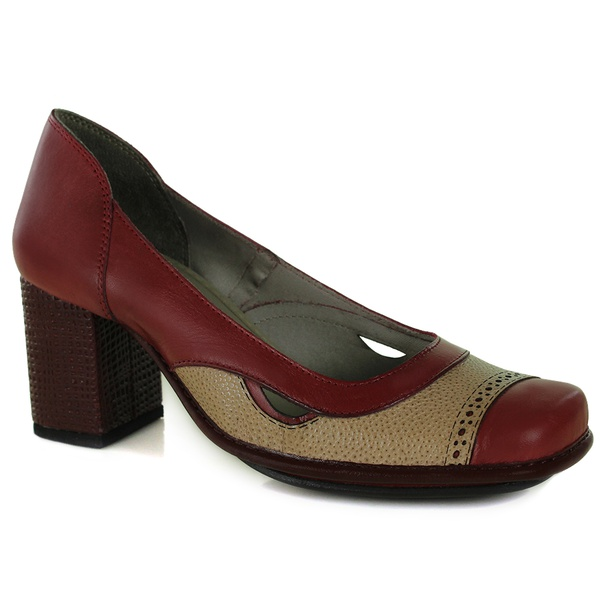 Sapato Galeany Alto Rouge Em Couro J.Gean OUTLET