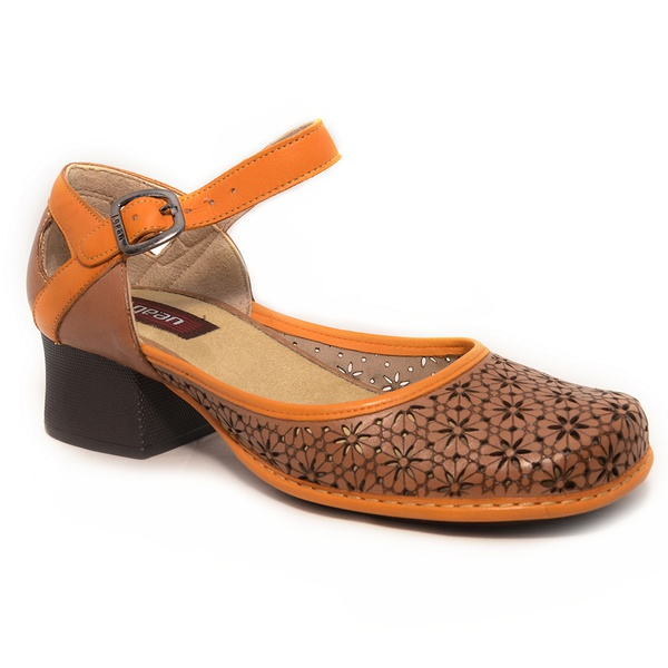 Sapato Em Couro New Kelly Suede J.Gean