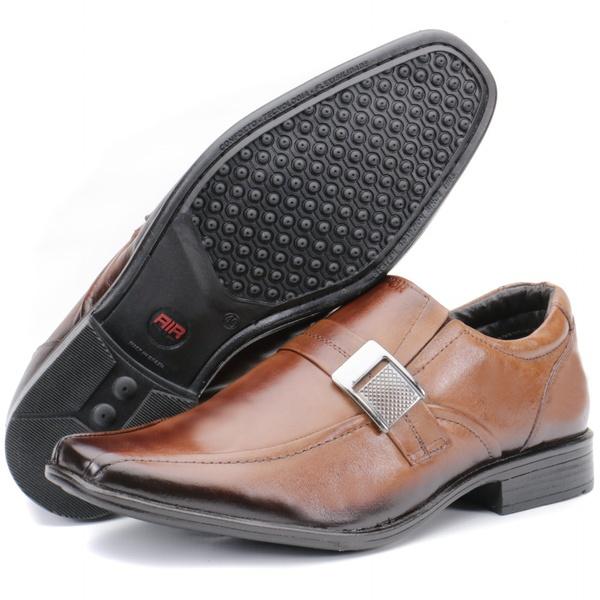 Calçado Sapato Social Em Couro Cor Castanho Kéffor Linha Berlim