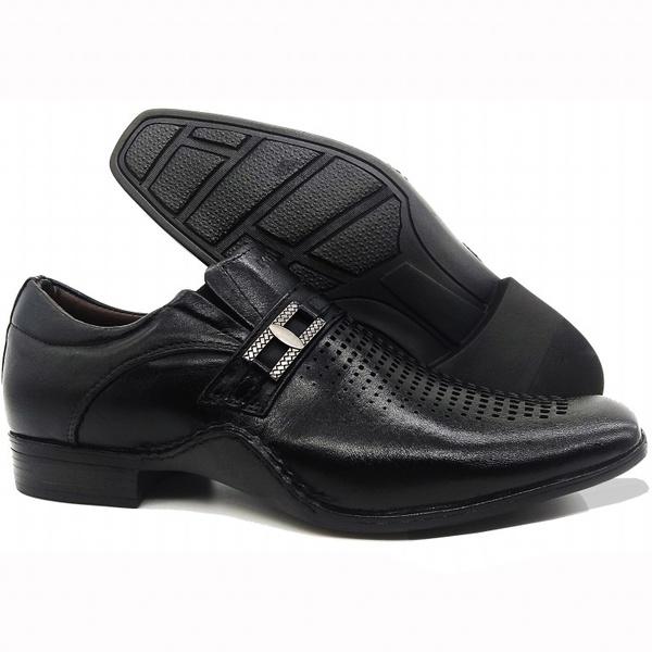 Sapato Masculino Executivo Em Couro Kéffor Preto Linha Detroit