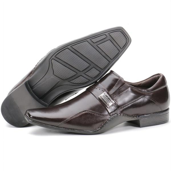Calçado Sapato social Fino Executivo Em Couro Café Kéffor Detroit