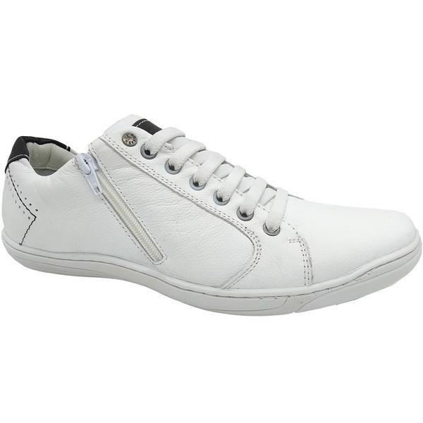 Calçado Sapatênis Masculino Em couro Kéffor Cor Branco Linha Fênix